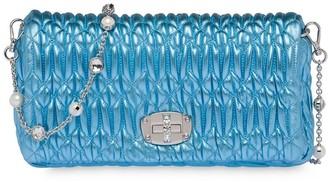 Miu Miu Crystal-Embellished Clutch Bag