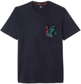 La Redoute Collections Cotton Tropical Leaf Print Pocket T-Shirt