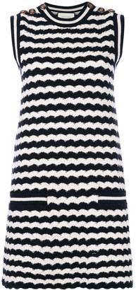 Gucci striped knit sleeveless dress
