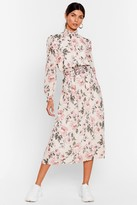 Nasty Gal Womens Bud On a Serious Note Floral Midi Dress - white - L