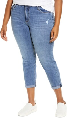KUT from the Kloth Rachael Distressed Roll Cuff Mom Jeans
