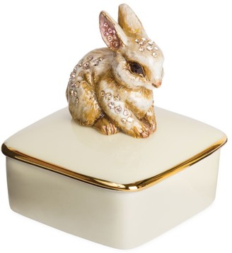 Jay Strongwater Great Gifts Bunny Porcelain Box