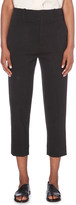 Vince Belted cropped wool-blend trousers