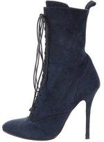 Giuseppe Zanotti x Balmain Suede Lace-Up Boots
