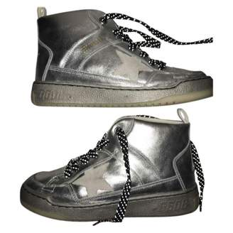 Golden Goose Metallic Leather Trainers