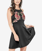 GUESS Christine Embroidered Fit & Flare Dress