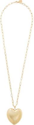 LAUREN RUBINSKI 14kt Yellow Gold Oversized Heart Pendant Necklace
