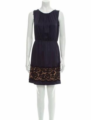 Lanvin Scoop Neck Mini Dress w/ Tags Blue