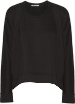 Alexander Wang Modal-blend French-terry sweatshirt
