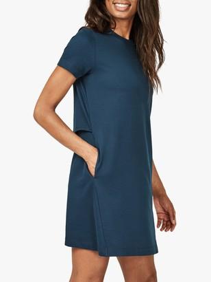 Sweaty Betty Meditate Mini Dress, Beetle Blue