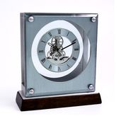 Bey-Berk Skeleton Desk Clock