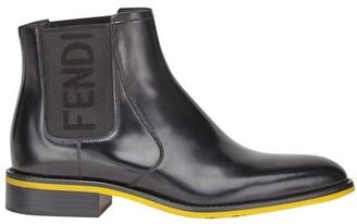 Fendi Black leather Chelsea boots