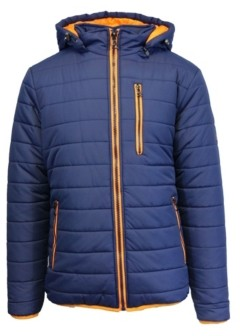 Galaxy By Harvic Spire By Galaxy Men's Puffer Bubble Jacket with Contrast Trim