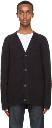 Acne Studios Navy and Brown Melange Cardigan