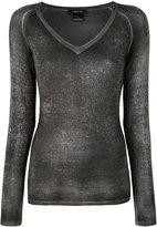 Avant Toi V neck top - women - Silk/Cashmere - S