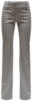 Altuzarra Checked Wool-serge Tailored Trousers - Womens - Black White