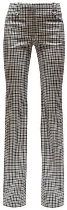 Altuzarra Checked Wool Serge Tailored Trousers - Womens - Black White