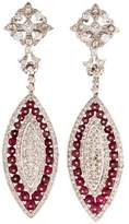 Amrapali 18K Spinel & Diamond Drop Earrings