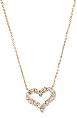Tiffany & Co. 0.70 CTW Diamond Heart 18K Yellow Gold Pendant Necklace