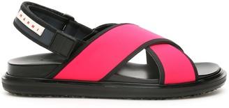 Marni Two-tone Fussbett Sandals