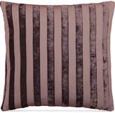 """Hallmart Collectibles Purple Stripe Jacquard 18"""" Square Decorative Pillow Bedding"""