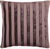 "Hallmart Collectibles Purple Stripe Jacquard 18"" Square Decorative Pillow"