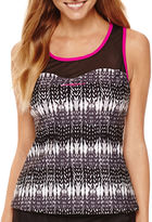 ZeroXposur Knit Mesh Sweetheart Tankini Swim Top