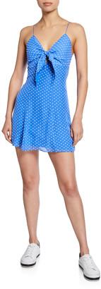 Alice + Olivia Roe Tie-Front Sleeveless Mini Dress