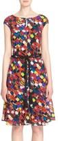 St. John Women's Mosaic Print Stretch Silk Crepe De Chine Dress