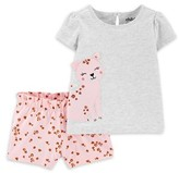 Carter's Child Of Mine By Child of Mine by Baby Girl Short Sleeve T-Shirt & Shorts Outfit, 2pc Set
