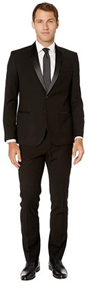 Nick Graham Shawl Collar Tuxedo (Black Houndstooth) Men's Suits Sets