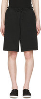 Undecorated Man Black Drawstring Lounge Shorts