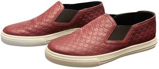 Gucci Burgundy Leather Trainers