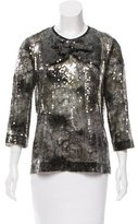 Louis Vuitton Sequined Bow-Accented Top