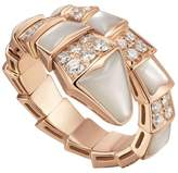 Bvlgari Rose Gold, Diamond and Mother of Pearl Serpenti Ring