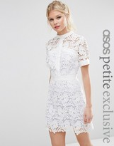 Asos Lace Skater Dress with Contrast Lining