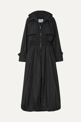 Prada Hooded Shell Trench Coat - Black
