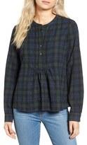 Madewell Women's Shirred Plaid Shirt