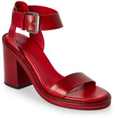 CNC Costume National Red Open Toe Two Piece High Heel Sandals