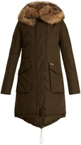 Woolrich Military fur-trimmed down parka