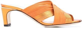 Pollini Cross-Strap Sandals