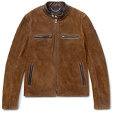 Belstaff Landrake Leather-Trimmed Suede Blouson Jacket