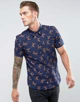 Bellfield Short Sleeved Shirt In Floral Print