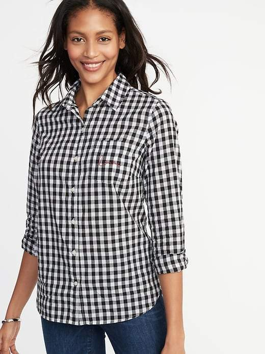 Old Navy Relaxed Printed Classic Shirt for Women