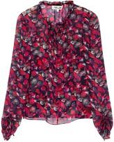 Diane von Furstenberg Lilian floral-print georgette blouse