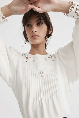 Witchery Cutwork Detail Blouse