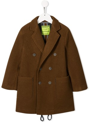 Paolo Pecora Kids Mid-Length Double-Breasted Coat