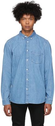 Tiger of Sweden Blue Denim Rit Shirt