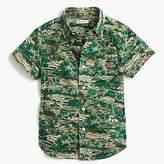J.Crew Kids' short-sleeve Secret Wash shirt in oasis print