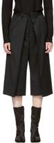 MM6 Maison Martin Margiela Black Short Suit Trousers
